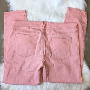 Jessica Simpson Stretch Rolled Crop Skinny Pink 14